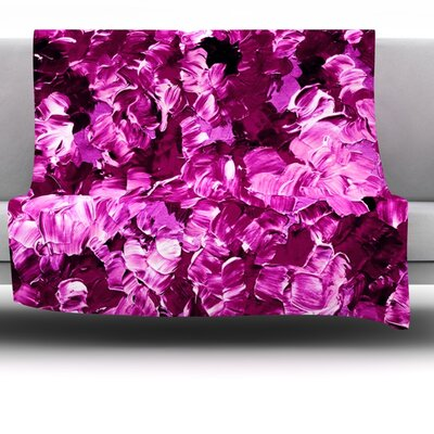 Floral Fantasy III Fleece Throw Blanket Size: 40 L x 30 W