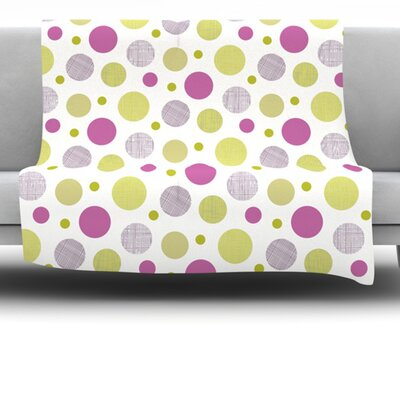 Dot Fleece Throw Blanket Size: 80 L x 60 W