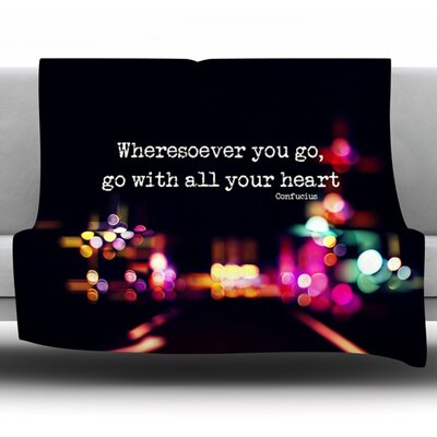 Road Trip Fleece Throw Blanket Size: 40 L x 30 W