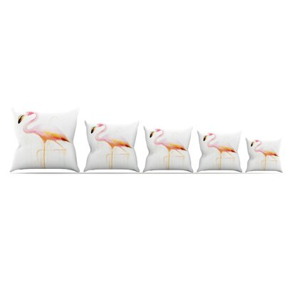 My Flamingo Throw Pillow Size: 16 H x 16 W x 3 D