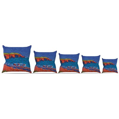 Sea Shore Throw Pillow Size: 16 H x 16 W x 3 D