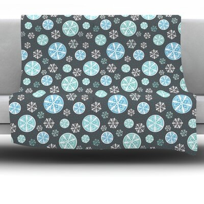 Snow Fleece Throw Blanket Size: 40 L x 30 W