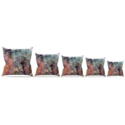 Floating Colors Throw Pillow Size: 18 H x 18 W x 3 D