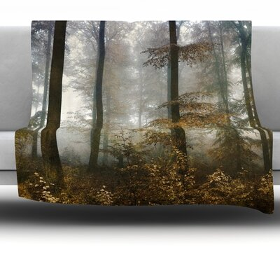 Forest Mystics Fleece Throw Blanket Size: 80 L x 60 W