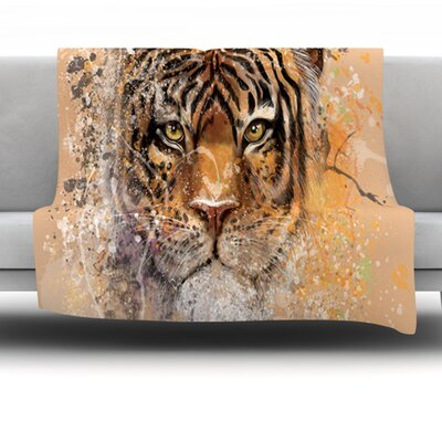 My Tiger Fleece Throw Blanket Size: 40 L x 30 W