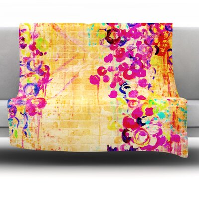 Wall Flowers Fleece Throw Blanket Size: 40 L x 30 W