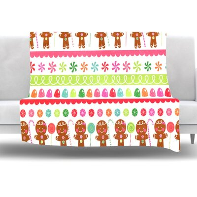 Gumdrop Buttons Fleece Throw Blanket Size: 80 L x 60 W