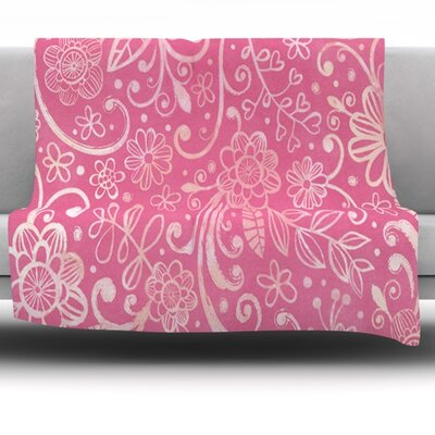 Pink Fleece Throw Blanket Size: 80 L x 60 W