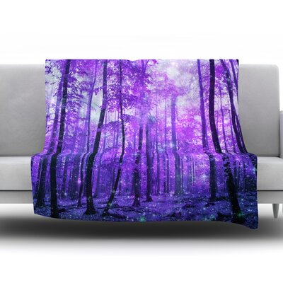 Woods Fleece Throw Blanket Size: 60 L x 50 W