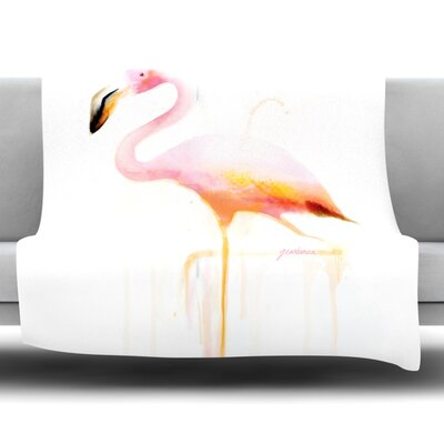 My Flamingo Fleece Throw Blanket Size: 40 L x 30 W