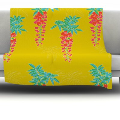 Ipanema Fleece Throw Blanket Size: 60 L x 50 W
