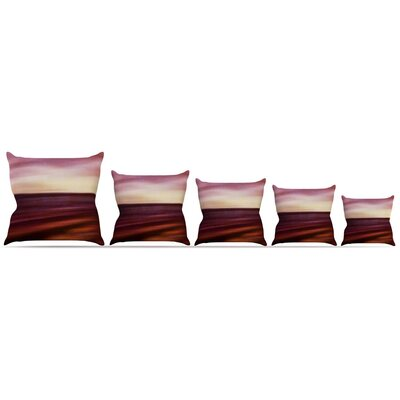 Seascape Sunset Throw Pillow Size: 18 H x 18 W x 3 D