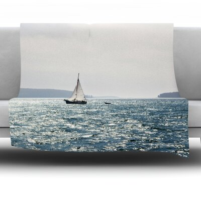 Sail the Sparking Seas Fleece Throw Blanket Size: 40 L x 30 W
