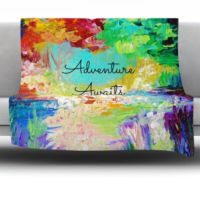 Adventure Awaits Fleece Throw Blanket Size: 60 L x 50 W