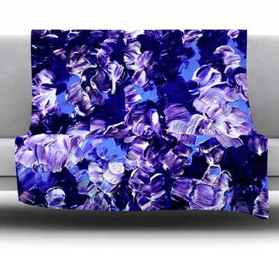 Floral Fantasy Fleece Throw Blanket Size: 90 L x 90 W
