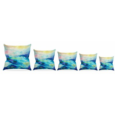 Taken by the Undertow Throw Pillow Size: 16 H x 16 W x 3 D
