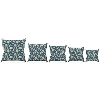 Midnight Snow Throw Pillow Size: 18 H x 18 W x 3 D