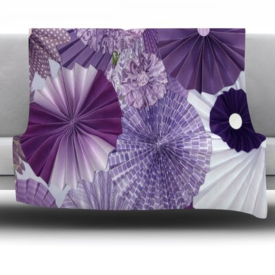 Lavender Wishes Fleece Throw Blanket Size: 40 L x 30 W