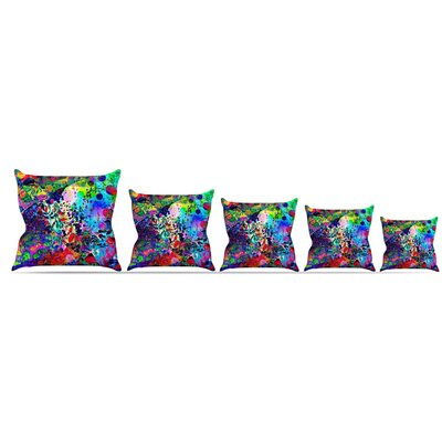 Jungle Fever Throw Pillow Size: 18 H x 18 W x 3 D