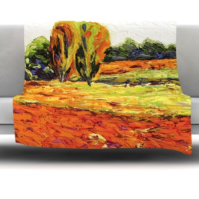 Summer Breeze Fleece Throw Blanket Size: 80'' L x 60'' W