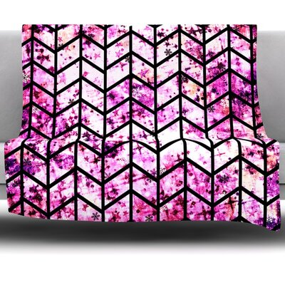 Chevron Fleece Throw Blanket Size: 80 L x 60 W