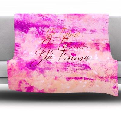 Je Taime Fleece Throw Blanket Size: 60 L x 50 W