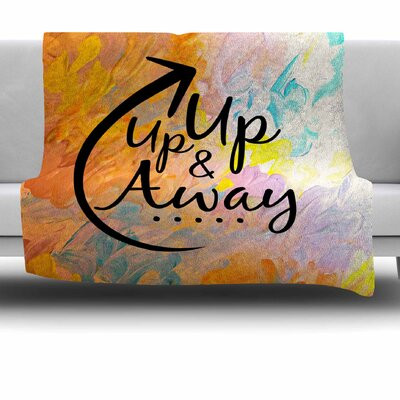Up Up and Away Fleece Throw Blanket Size: 40 L x 30 W