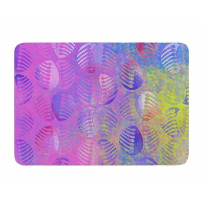 Poddy Combs - Subtle Pastels by Dan Sekanwagi Memory Foam Bath Mat