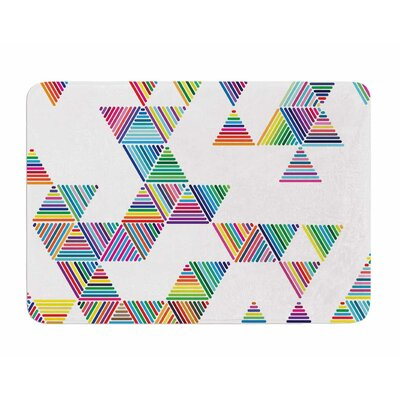 Rainbow Rain by Fimbis Memory Foam Bath Mat
