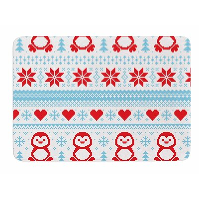 Pixel Penguin Holiday Original Memory Foam Bath Mat