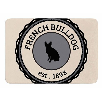 French Bulldog Original Memory Foam Bath Mat