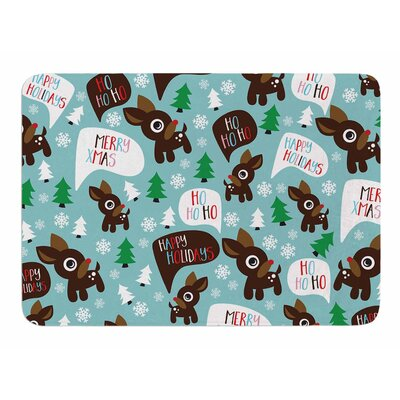 Cheerful Reindeer Original Memory Foam Bath Mat