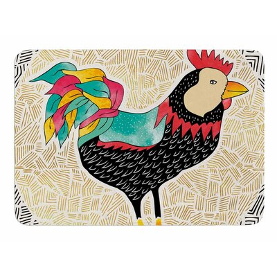 Buckaroo Rooster by Pom Graphic Design Memory Foam Bath Mat
