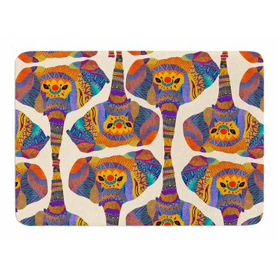 Elephant Play by Pom Graphic Design Memory Foam Bath Mat