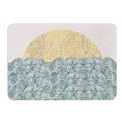Sunny Tribal Seas II by Pom Graphic Design Memory Foam Bath Mat