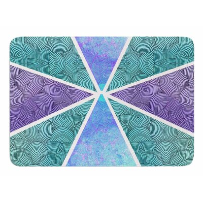 Reflective Pyramids by Pom Graphic Design Memory Foam Bath Mat