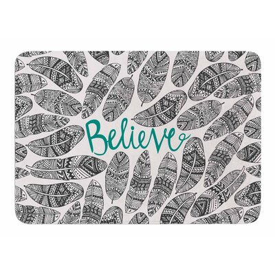 Believe by Pom Graphic Design Memory Foam Bath Mat
