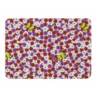 Cherry Blossom and Butterfly by Sets Megawatt Memory Foam Bath Mat