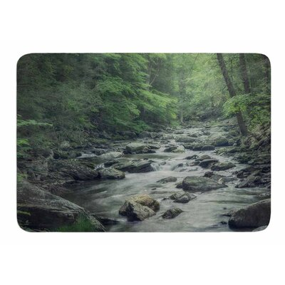 Misty Forest Stream by Suzanne Hartford Memory Foam Bath Mat