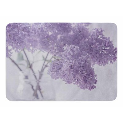 Lilacs by Suzanne Hartford Memory Foam Bath Mat