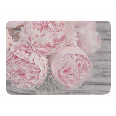 Peony Flowers by Suzanne Hartford Memory Foam Bath Mat