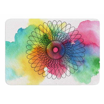 Rainbow Spiro by Tonal Nathan Memory Foam Bath Mat