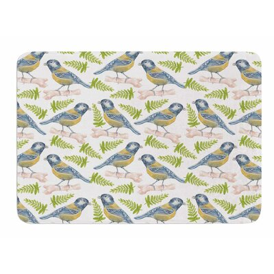 Bird. Tit by Alisa Drukman Memory Foam Bath Mat