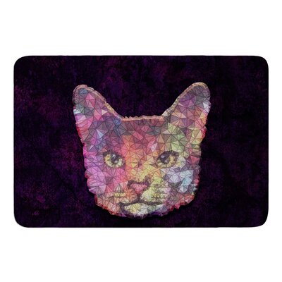 Rainbow Cat by Ancello Memory Foam Bath Mat