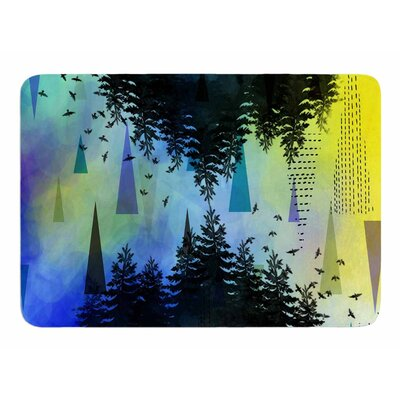 As Above, So Below (Blue) by AlyZen Moonshadow Memory Foam Bath Mat