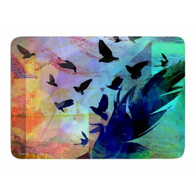 Not Quite Birds of A Feather by AlyZen Moonshadow Memory Foam Bath Mat