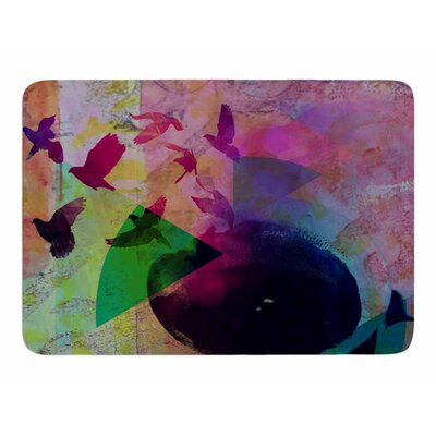 Tea Birds by AlyZen Moonshadow Memory Foam Bath Mat
