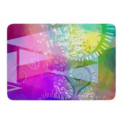 Musical Tendrils by AlyZen Moonshadow Memory Foam Bath Mat