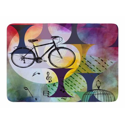 Bike To the Moon by AlyZen Moonshadow Memory Foam Bath Mat