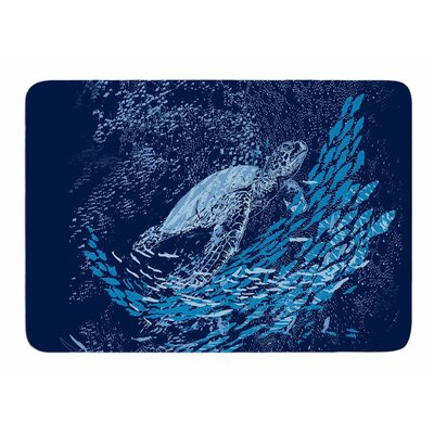 The Turtle Way by Frederic Levy-Hadida Memory Foam Bath Mat